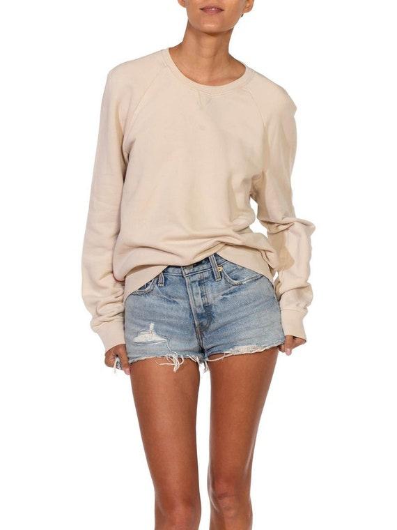 1990S Prada Cream Cotton Long Sleeve Sweatshirt S… - image 7