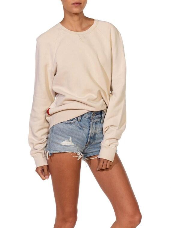 1990S Prada Cream Cotton Long Sleeve Sweatshirt S… - image 6