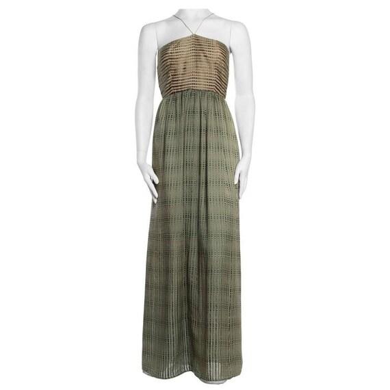 1970S Bill Blass Green Silk Gown