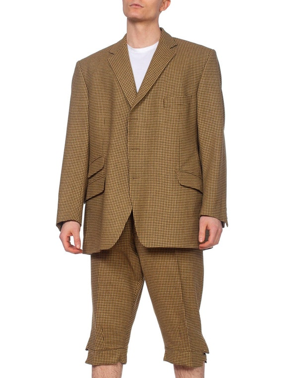 1990'S CORDINGS Green Wool Tweed Men's 20S Style E