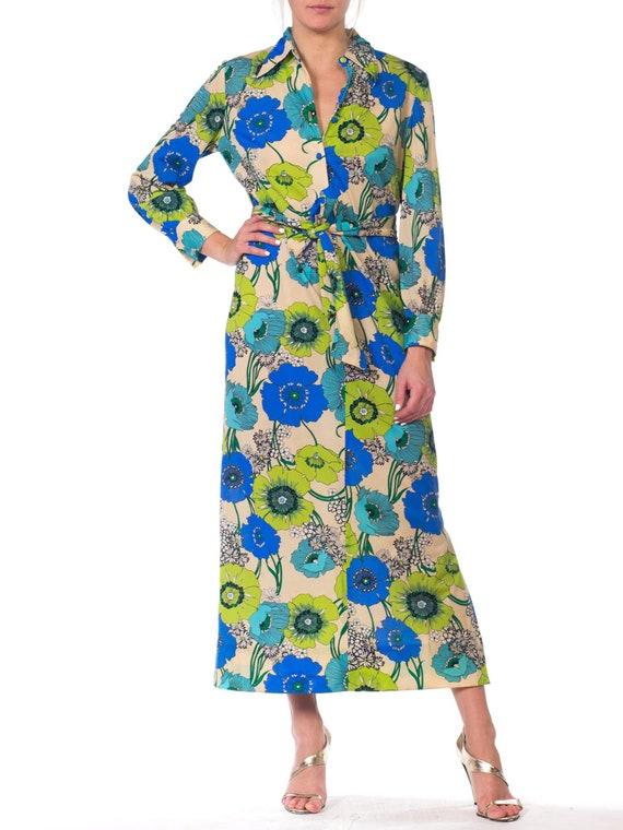 1920s-silk Chiffon Lavender Applique Dress Size: S - image 6