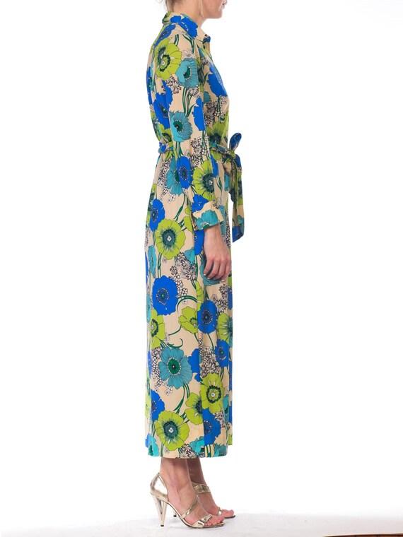 1920s-silk Chiffon Lavender Applique Dress Size: S - image 2