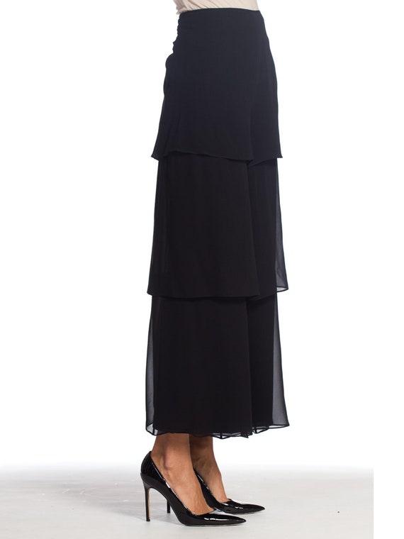 1990s-armani Silk Chiffon Pants Size: L - image 2