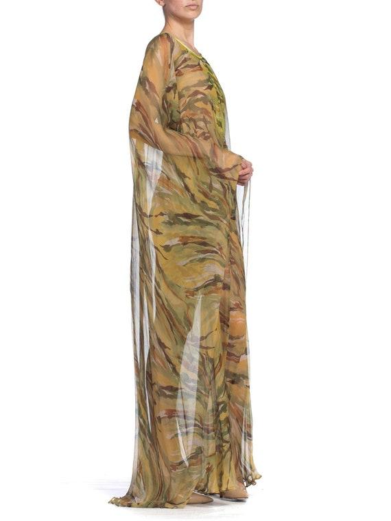 1990's  Romeo Gigli Sheer Silk Chiffon Kaftan Siz… - image 2