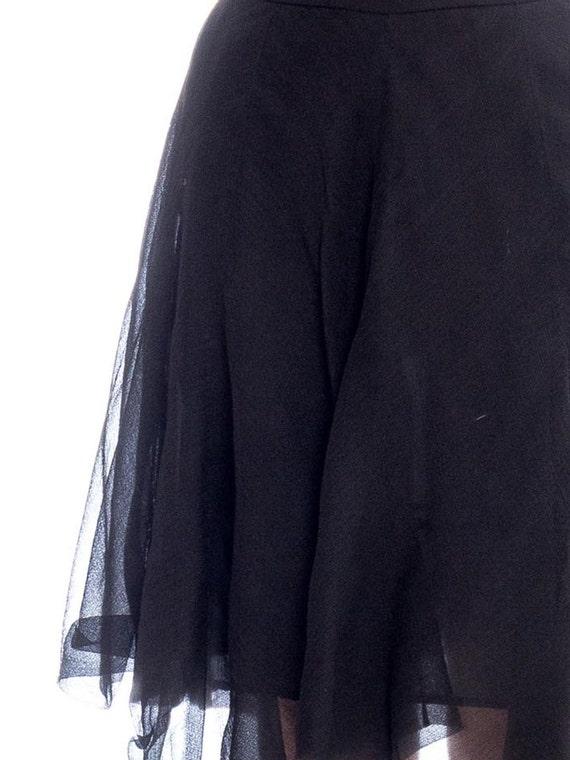 1990s Silk Chiffon Skirt Size: S - image 5