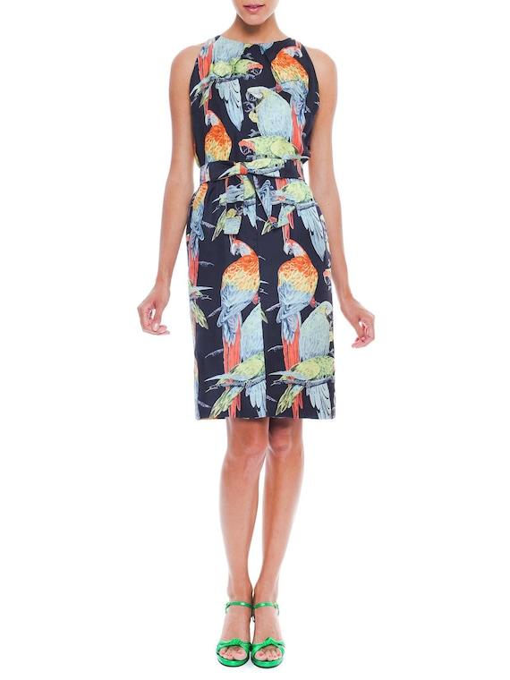 Vibrant Donald Brooks Tropical Print Dress