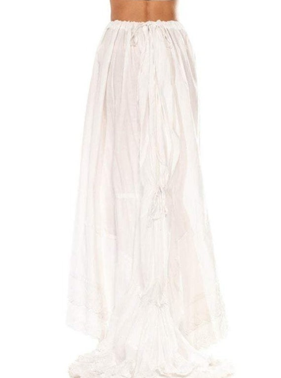 Victorian White Organic Cotton 1870S-80S Trained … - image 2