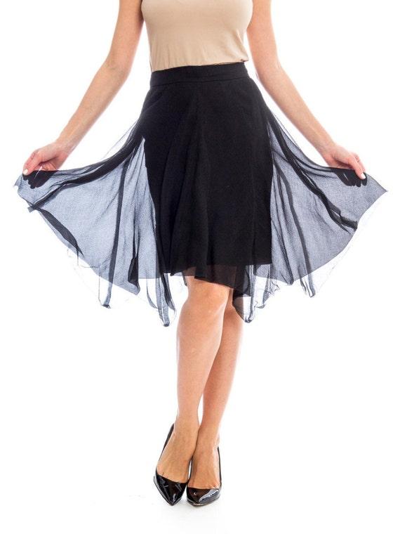 1990s Silk Chiffon Skirt Size: S - image 2