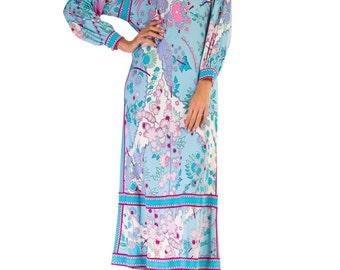 1960s Vintage Beautiful Romantic Heavenly Blue MOD Dress by BESSI  Size: S/M