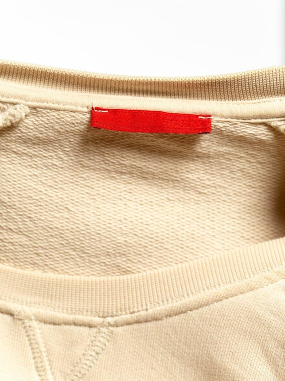 1990S Prada Cream Cotton Long Sleeve Sweatshirt S… - image 8