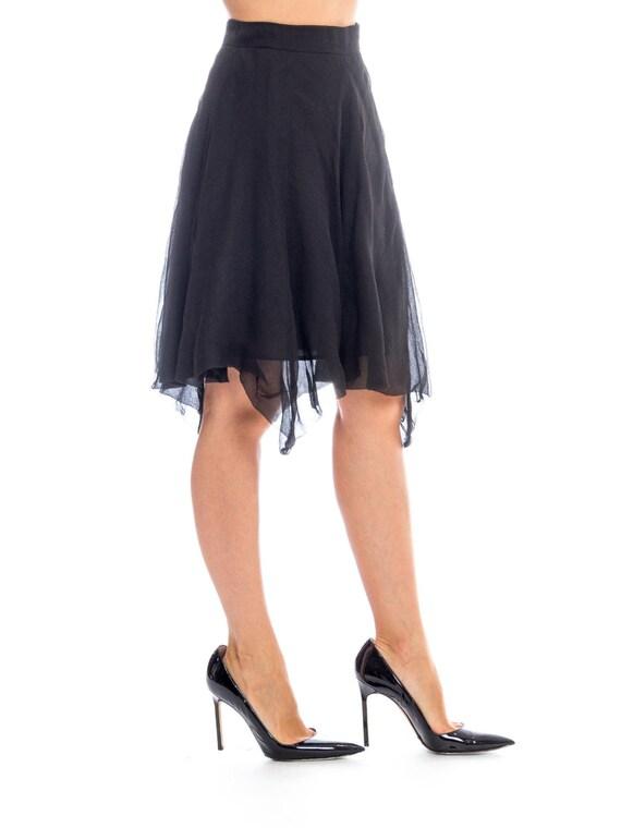 1990s Silk Chiffon Skirt Size: S - image 3