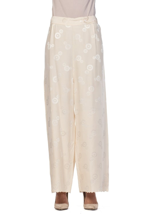 1930S Cream Haute Couture Silk Jaquard Chinese Lou