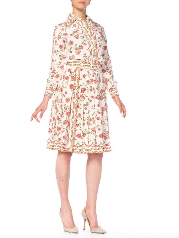 Emilio Pucci Silk Floral Two Piece Skirt Set Size: - image 1