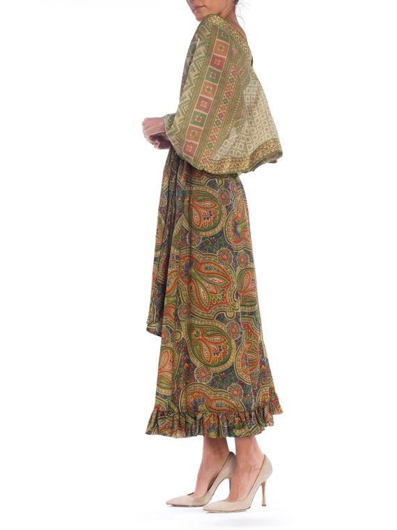 MORPHEW COLLECTION Silk & Cotton Indian Paisley W… - image 4
