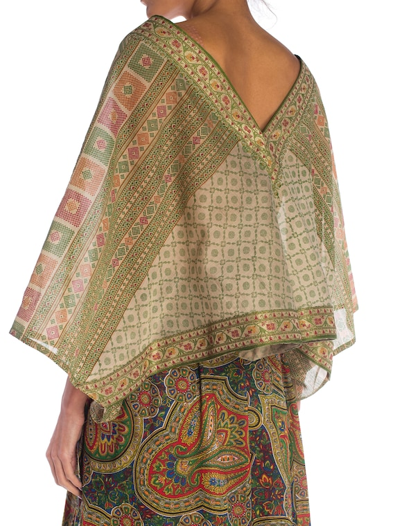 MORPHEW COLLECTION Silk & Cotton Indian Paisley W… - image 5