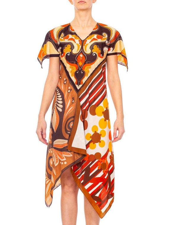 MORPHEW COLLECTION Brown & Orange Polyester Psyche