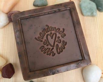 Mocha Latte scented Coffee Soap, 4 ounces, Coffee Scrub, Scrub Soap, Handmade Soap, All Natural Soap, Exfoliating Soap