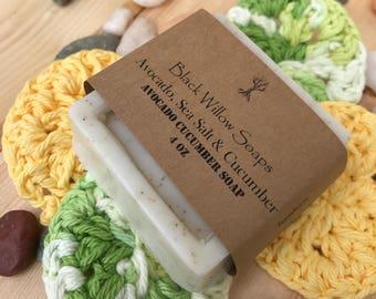 Avocado Cucumber Guest Soaps, Handmade Soap, Natural Soap, Avocado Cucumber, Bar Soap, Womens Soap, Mens Soap, Gift Soap, Guest Soap,