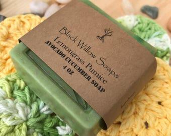 Lemongrass Pumice Dry Skin Soap, All Natural Soap, Eczema Soap, Bar Soap, Soap Bar, Soap for Acne, Face Soap, Natural Soap, Scrub Soap Bar