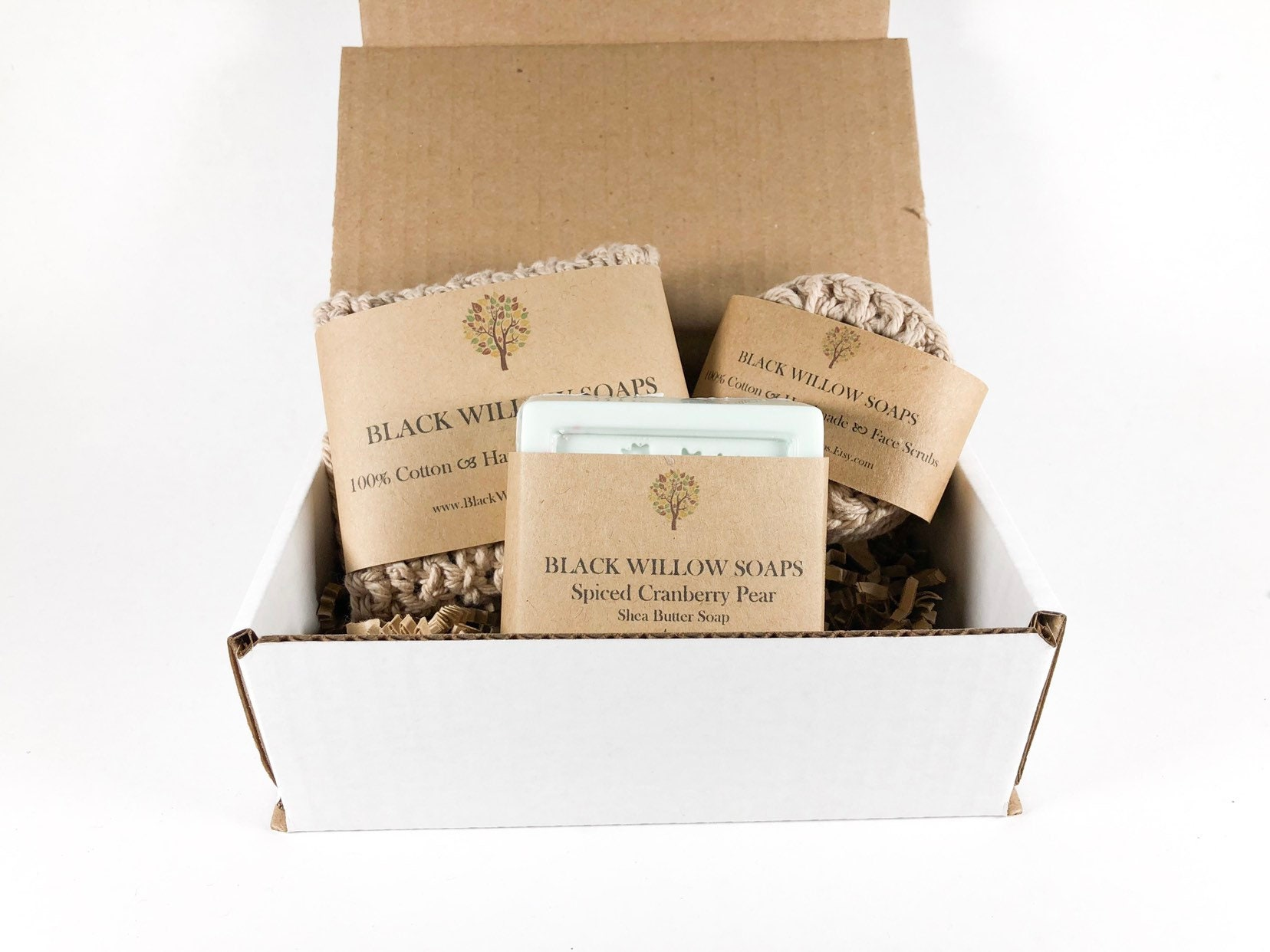 Spiced Cranberry Pear Soap Bath Set | Spa Bath Gift | Spa Kit for Women |  Thanksgiving Guest Gifts | Stocking Stuffers | Wife Gift