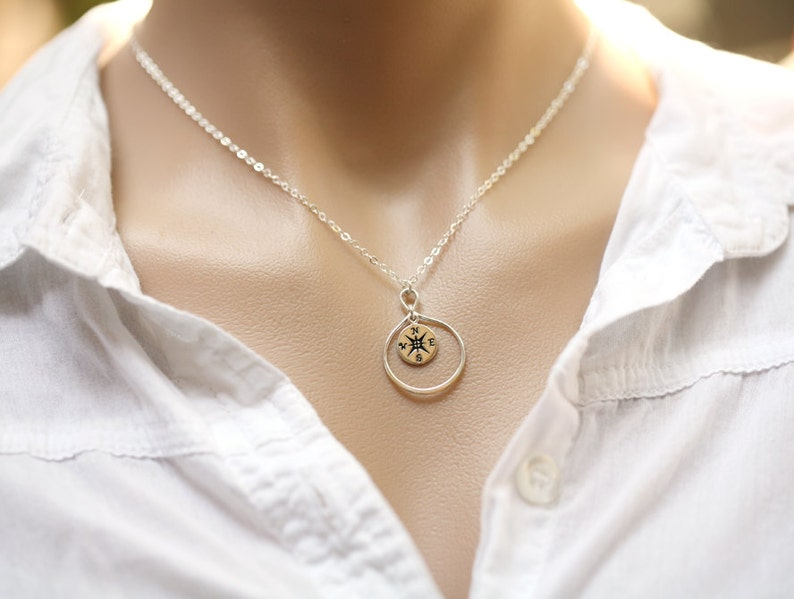 Gold compass necklace,Infinity compass necklace,infinity necklace,Friendship necklace,Graduation gift,best friend gift,bridesmaid gifts
