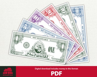 photo about Fake Money Printables titled Monetary printables Etsy