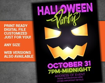 Trunk or Treat Flyer INSTANT DOWNLOAD / Halloween Template