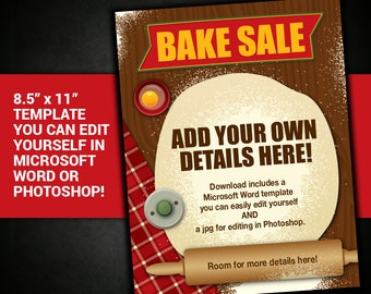 editable bake sale flyer bake sale poster bake sale flyer template bake sale fundraiser flyer school fundraiser church fundraiser poster