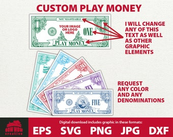 image regarding Printable Currency Straps titled Bogus monetary Etsy