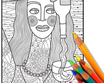 Elvis Coloring Page Adult Coloring Page Adult Coloring Etsy