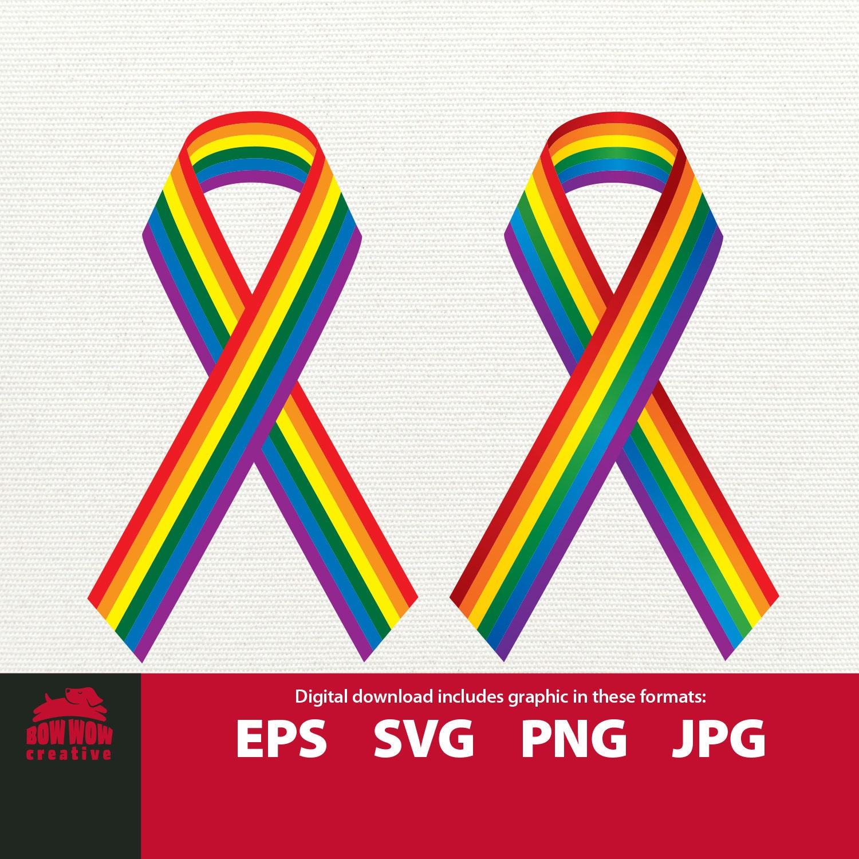 New Gay Pride Awareness Rainbow Ribbon Black T Shirt LBGT lesbian parade love