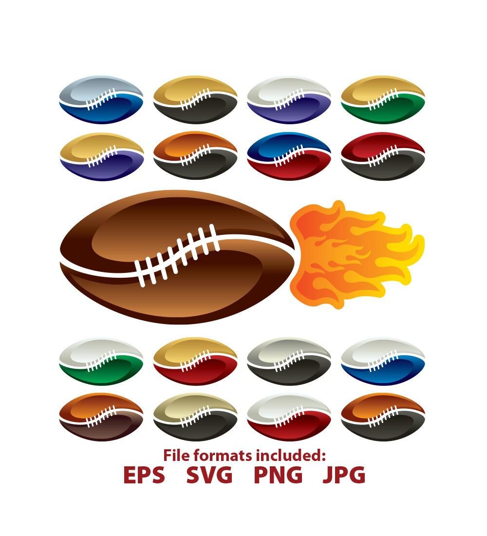 Fútbol logo llamas llamas fútbol americano nfl Imágenes | Etsy