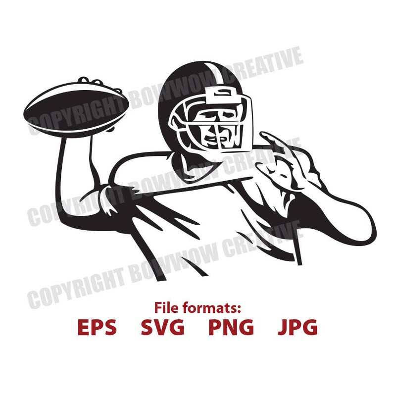Vintage Football Player Svg Football Player Clipart Etsy