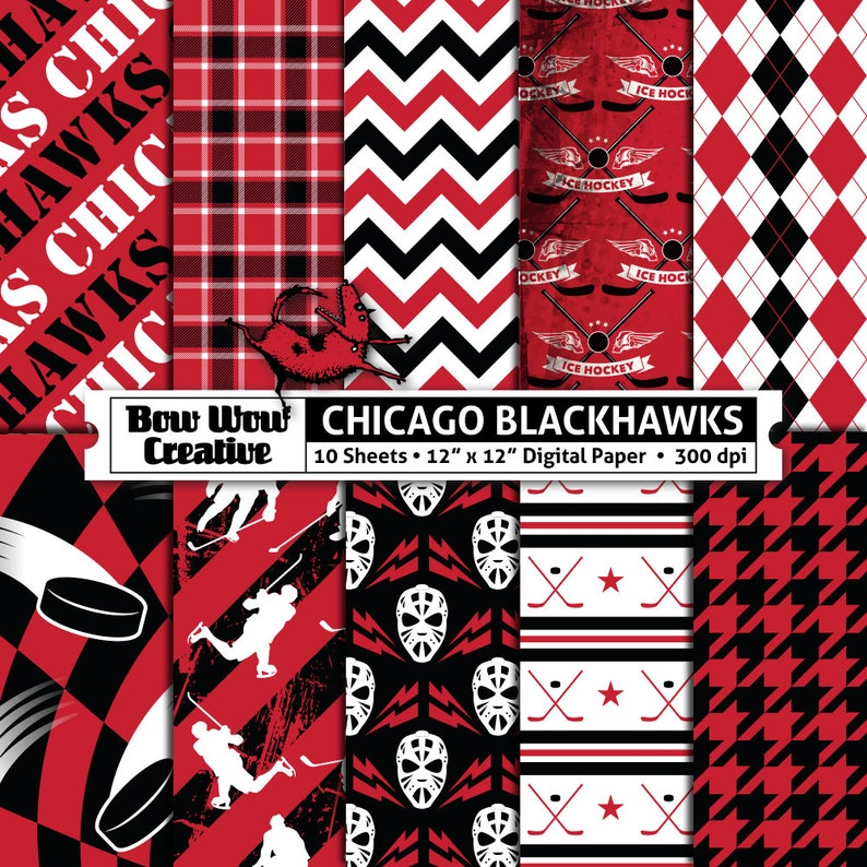 photograph relating to Blackhawks Schedule Printable called 10 Chicago Blackhawks Electronic Papers for Sbooking, Hockey, Ice, Electronic Paper, Electronic Sbook Paper, Printable Sheets, Behaviors