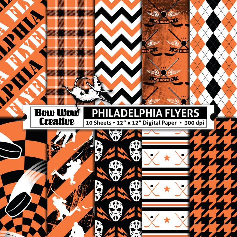 graphic about Philadelphia Flyers Printable Schedule referred to as 10 Philadelphia Flyers Electronic Papers for Sbooking, Hockey, Ice, Electronic Paper, Electronic Sbook Paper, Printable Sheets, Models, NHL