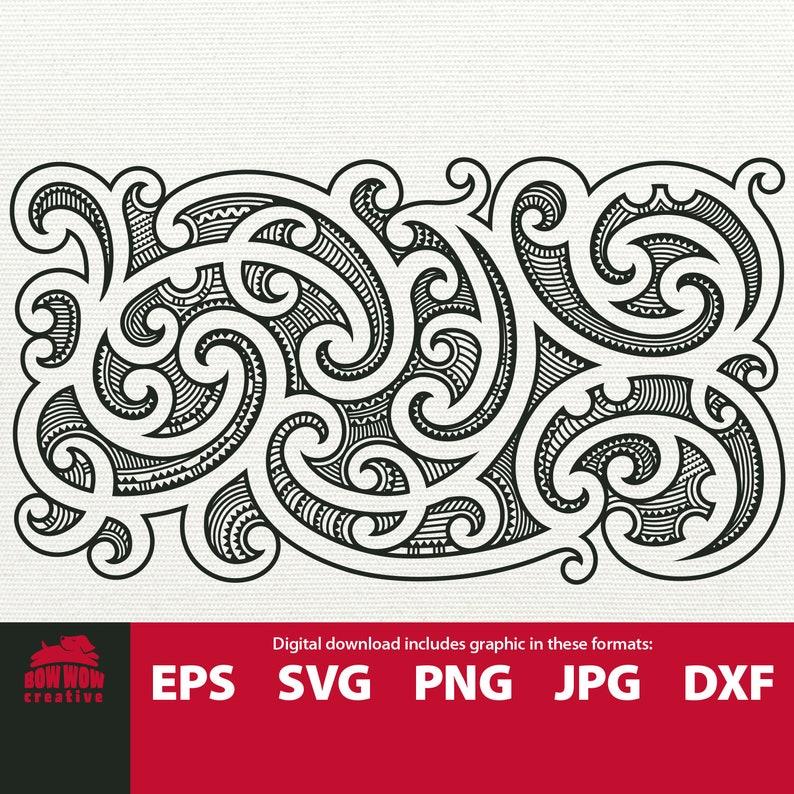 373af1b423bbd Maori pattern svg maori clip art tribal svg maori tattoo | Etsy