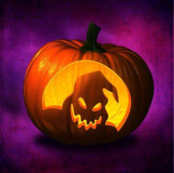 Jack O Lantern Stencil Carving Pumpkin Halloween Etsy