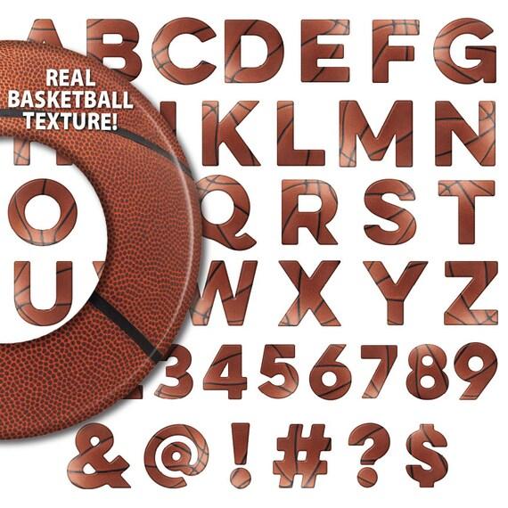Basketball Alphabet Font Letters Numbers Symbols Digital Etsy
