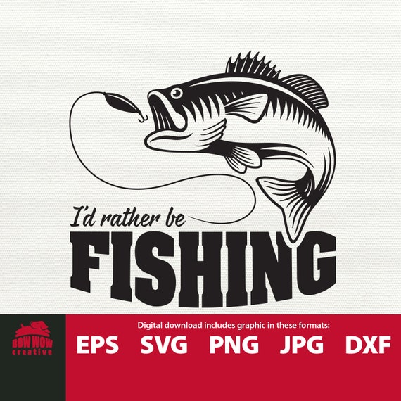 Download I D Rather Be Fishing Svg Jumping Fish Svg Fishing Svg Etsy