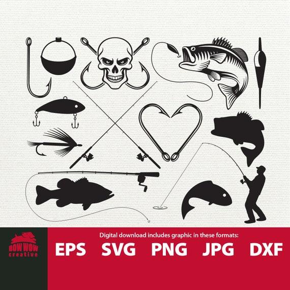 Download Fishing Svg Bundle Fishing Clipart Fishing Svg Fish Svg Etsy