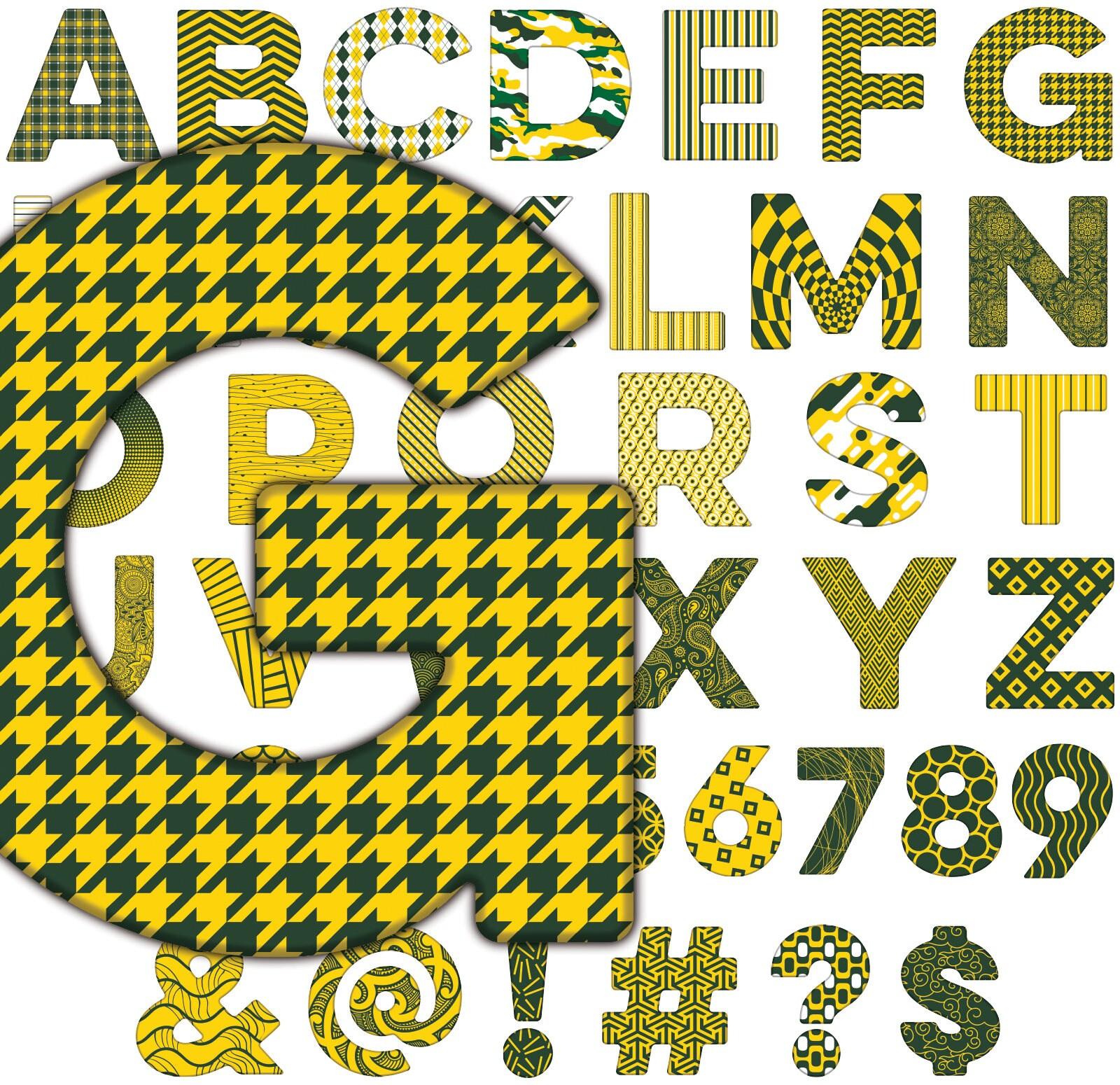Green Bay Packers alfabeto letras números símbolos | Etsy