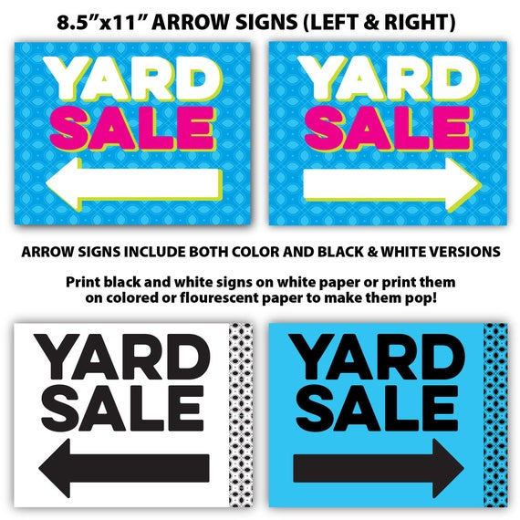 tag sale sign template