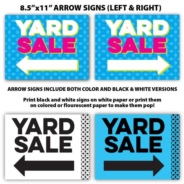 yard sale sign kit bundle tag sale sign garage sale sign etsy