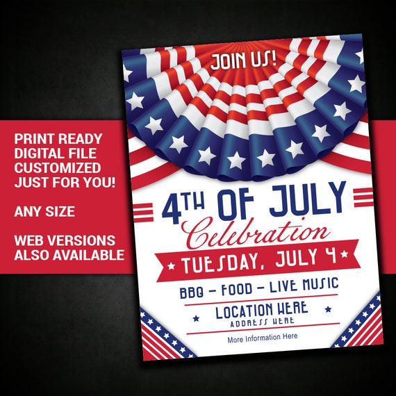 Independence Day Flyer | 4th Of July Independence Day July 4th Picnic Summer Bbq Etsy