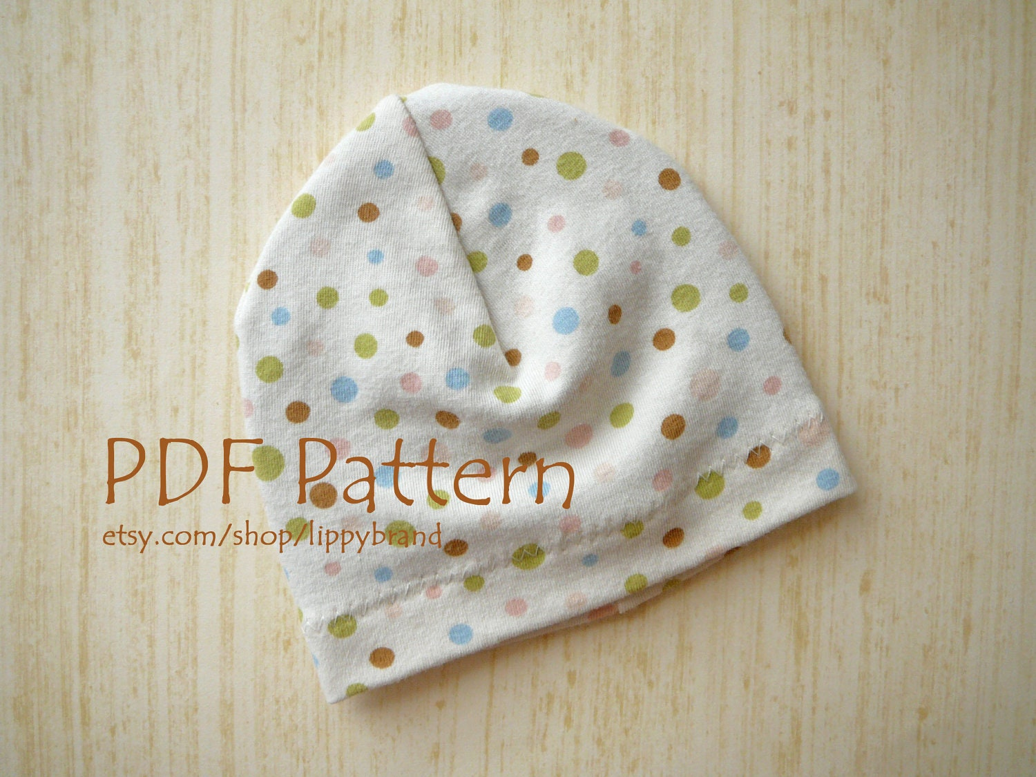 PDF PATTERN for Baby hat. Versatile beanie in three sizes.  155fc198e3e