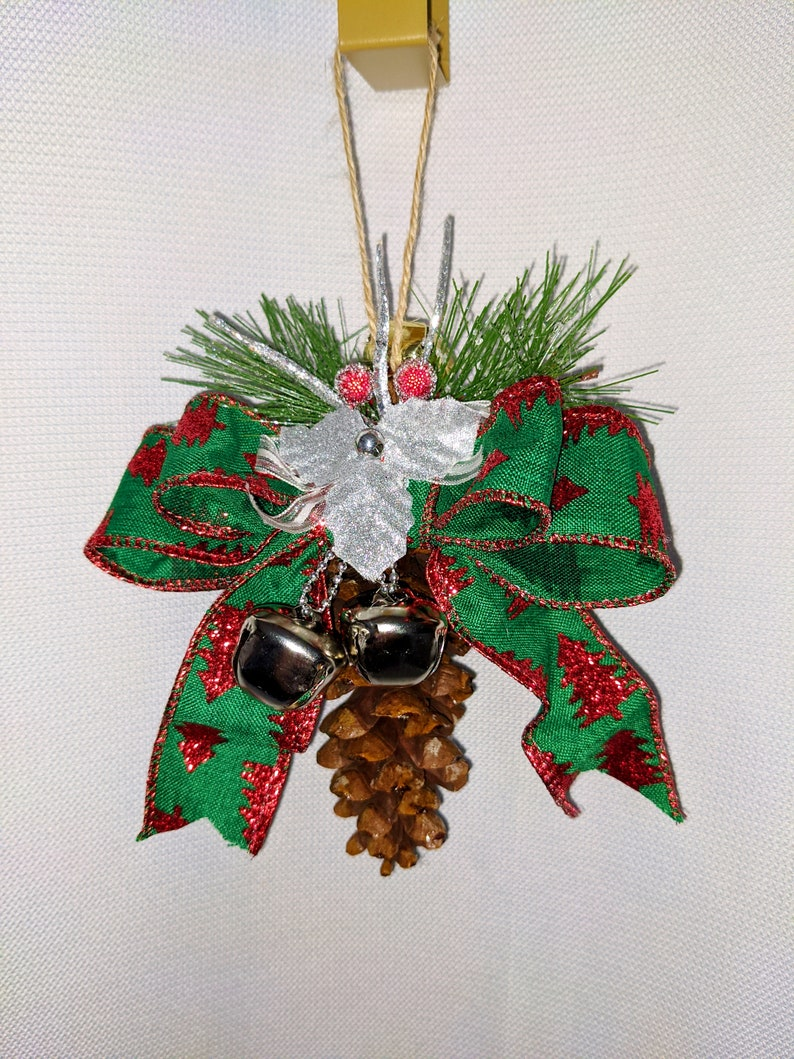 Natural Pinecone ornament large White Pine decorations pine cone first Christmas Rustic holiday