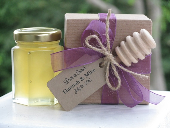 Set Of 30 Honey Favors Boxed Favor With Dippers Wedding Etsy