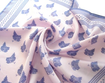 Vintage Lilac Purple Scarf -  Grapes - Square Bright Fall Fashion Scarves - Womens  Autumn Accessories 1970s