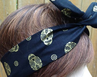 Los Angeles Rams Helmet Logo Bandana Wired Dolly Bow Wire Headband Rockabilly Wire Scarf