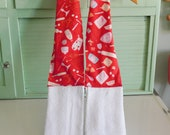 Baker 39 s Boa Made With Red Kitchen Gadget Fabric